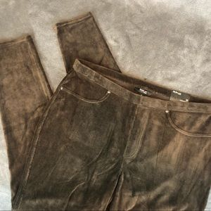 Style & Co Pants - Style & Co Brown Corduroy Stretch Leggings 2X NWT